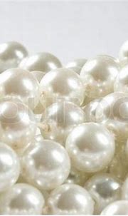 Pile of pearl on the white background   Stock Photo ...
