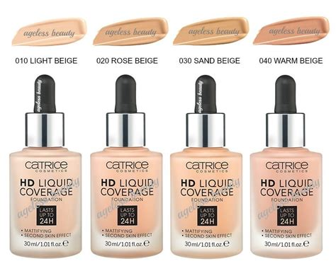 foundation catrice catrice hd liquid coverage foundation 24h mattifying