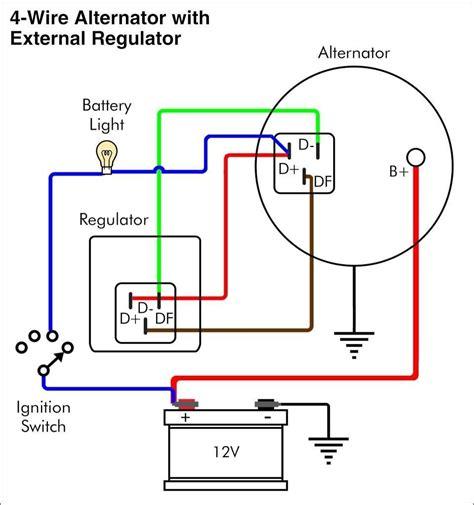 volt delco alternator wiring diagram wiringdiagram
