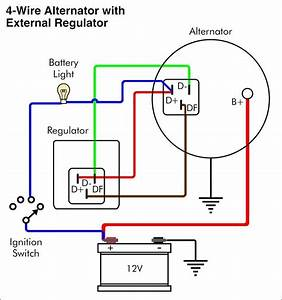 12 Volt Delco Alternator Wiring Diagram
