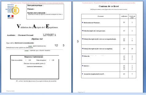 licence pro cuisine vae bts professions immobilières avec exemple livret 2