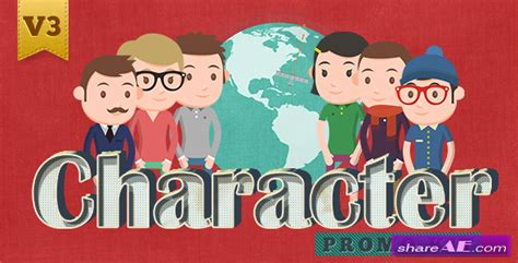 after effects product promo templates bobby character animation diy pack character promo kit after effects project videohive