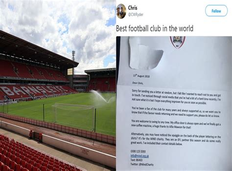 Barnsley FC praised for reaching out to fan who had spoken ...