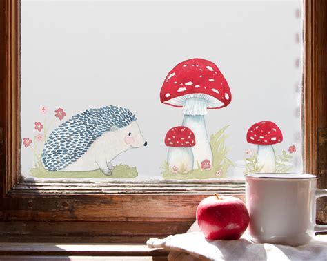 Herbst Fenster Kinderzimmer by Fensterbild Herbstigel Kinderzimmerdeko F 252 R Den Herbst