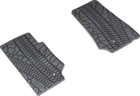 Jeep Jk Floor Mats Mopar by Mopar 174 82210164ac Floor Slush Mats With Tire Tread Pattern