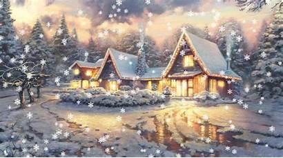 Christmas Wallpapers Eve Animated Lights Wall Holidays