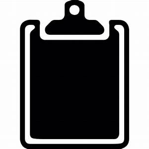 Empty clipboard silhouette Icons | Free Download