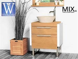 meuble de salle de bain en teck massif collection wildwater With www meuble salle bain teck fr