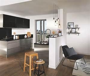 Decoration salon cuisine americaine for Idee deco cuisine avec meuble salle a manger et salon