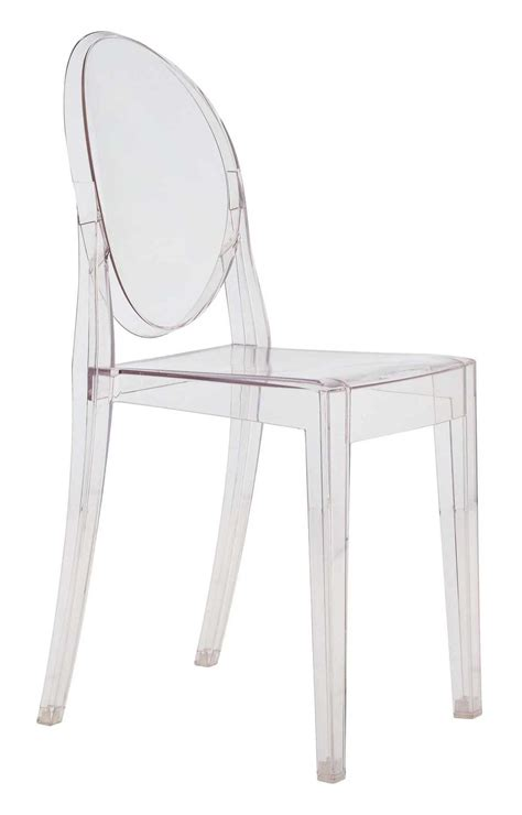 chaises polycarbonate chaise empilable ghost transparente