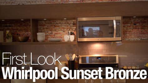 whirlpool  stainless   sunset bronze