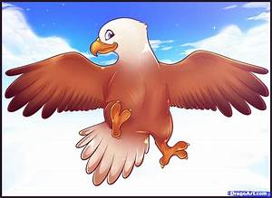 How to Draw an Easy Eagle, Step by Step, Birds, Animals ...