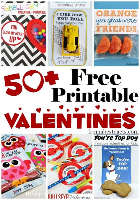50+ Free Printable Valentines for Kids | From ABCs to ACTs