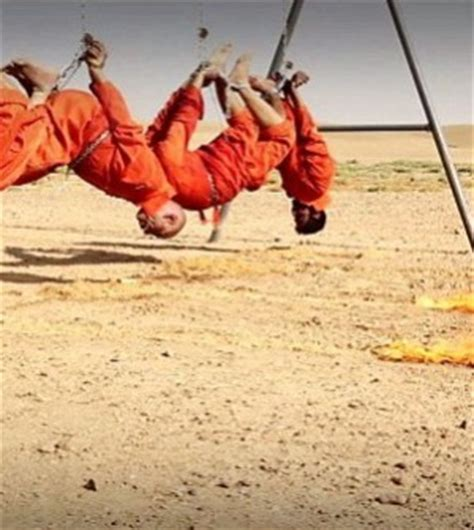 Warning Extremely Graphic War Images Daesh Burn Four Iraqi Shi Ite Fighters Alive Graphic