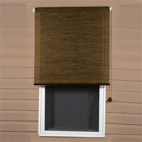 coolaroo sandalwood exterior roller shade 92 uv block
