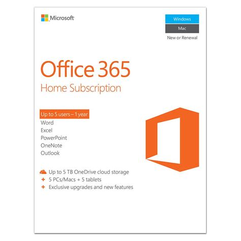 Office 365 Home Subscription by Microsoft Office 365 Home Subscription Staples 174