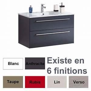 Meuble Vasque 60 Cm : meuble cubix complet 60 cm plan de vasque ~ Dailycaller-alerts.com Idées de Décoration