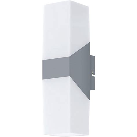 buy eglo roffia led outdoor wall light alum