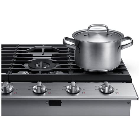 gas cooktop stove na36k6550ts samsung appliances 36 quot gas cooktop stainless