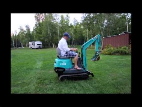 komatsu pc ultra mini excavator youtube