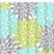 Grey And Aqua Shower Curtain by Aqua Gray Lime SHOWER CURTAIN Flower From HoneyDesignStudio On