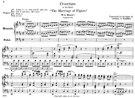 overture to the marriage of figaro by w a mozart