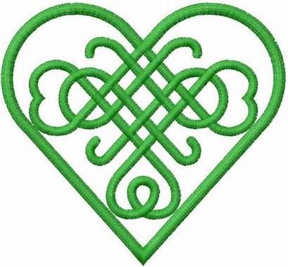 Celtic Heart Embroidery Designs Knot Clipart Patterns