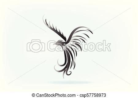 > separate svg & png file for each design. Phoenix bird logo animal artwork vector isolated on plain ...