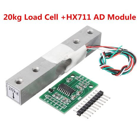 hx711 module 20kg aluminum alloy scale weighing sensor load cell kit for arduino alexnld