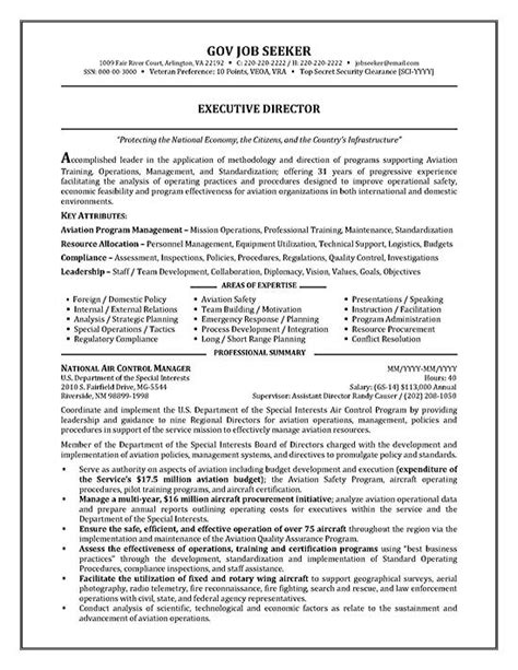 government resume