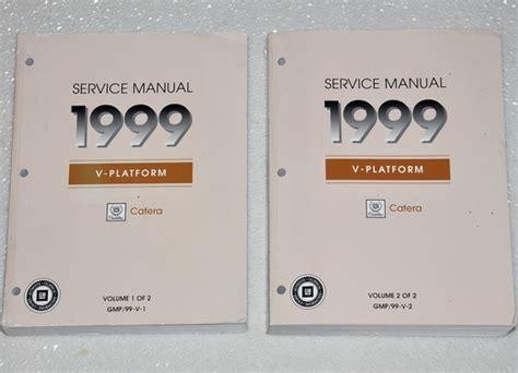 car repair manuals online free 1999 cadillac catera auto manual 1999 cadillac catera factory service manual set original shop repair factory repair manuals