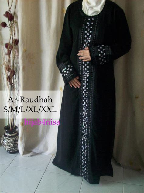simple and versatile exclusive for you jubah hitam murah cantik
