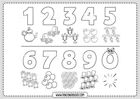 Imagenes y Dibujos de los Números para Colorear