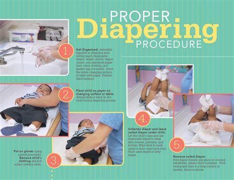 early childhood education materials proper diapering