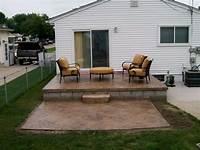 great raised concrete patio design ideas Raised Concrete Patio Designs Build Raised Concrete Patio ...