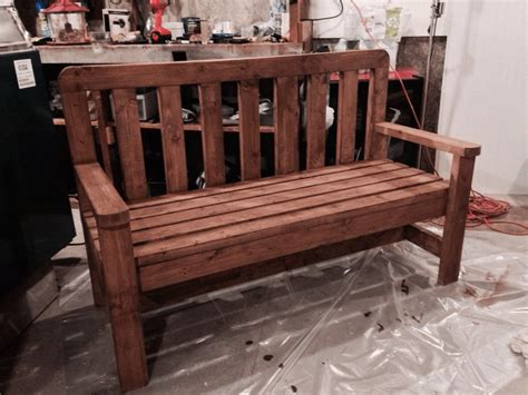 build  beautiful bench    diy woodworking plans   country diy bench diy