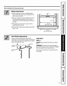 Ge Agh24dam1 User Manual Room Air Conditioner Manuals And