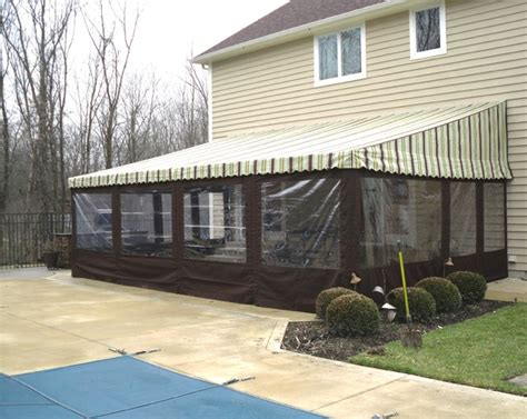 residential patio awnings traditional patio columbus  capital city awning