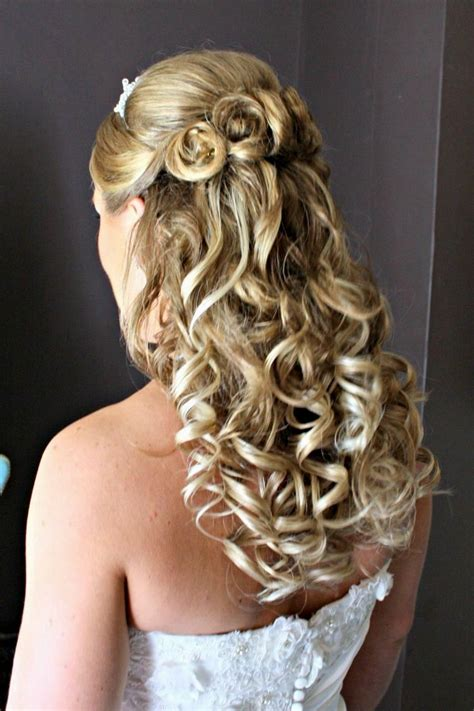 half up down wedding hairstyles for medium length hair