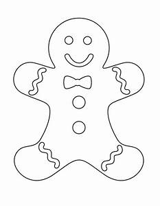 Gingerbread Man Printable | New Calendar Template Site