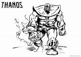 Thanos Coloring Pages Fanart Printable Adults sketch template