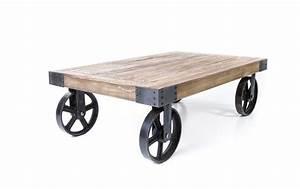 Roue Table Basse : table basse sur roue bande transporteuse caoutchouc ~ Teatrodelosmanantiales.com Idées de Décoration