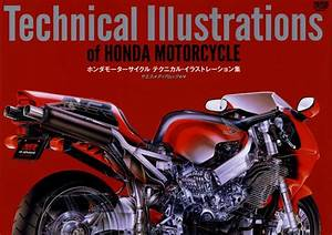 Technical Illustrations Of Honda Motorcycles