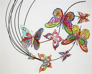 Papillon Décoration Murale : decoration murale salon papillons structure metallique ~ Teatrodelosmanantiales.com Idées de Décoration