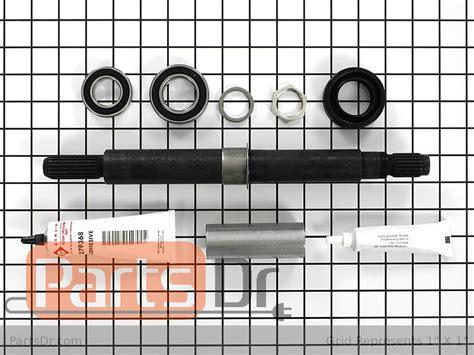 whirlpool tub bearing shaft seal kit parts dr