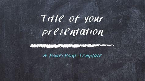 chalkboard powerpoint template presentationgocom