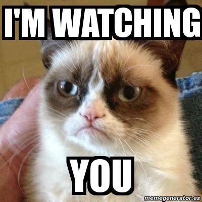 I M Watching You Meme - meme grumpy cat i m watching you 3567846