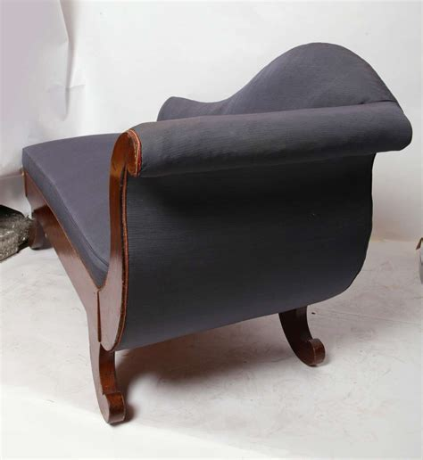 chaise empire secound empire swan chaise longue at 1stdibs