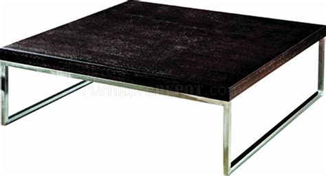 chrome coffee table legs wenge finish modern coffee table w chrome legs