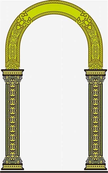 Pattern Pillar Arches Pooja Textile Pngtree Border